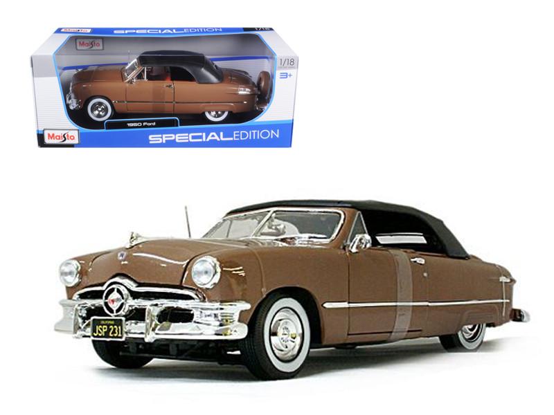 1950 Ford Convertible Soft Top Brown/Bronze 1/18 Diecast Model Car Maisto 31681