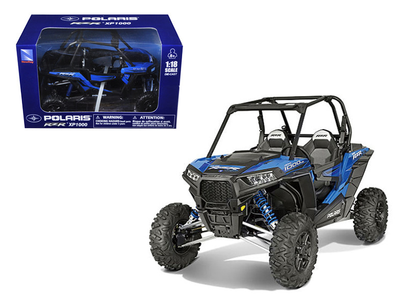 Polaris RZR XP 1000 Dune Buggy Woodoo Blue 1/18 Model New Ray 57593B