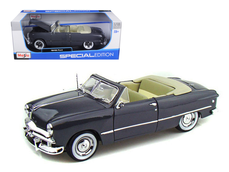 1949 Ford Convertible Gray 1/18 Diecast Model Car Maisto 31682