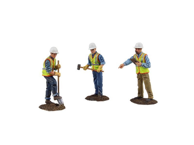 Diecast Metal Construction Figures 3pc Set #2 1/50 First Gear 90-0481