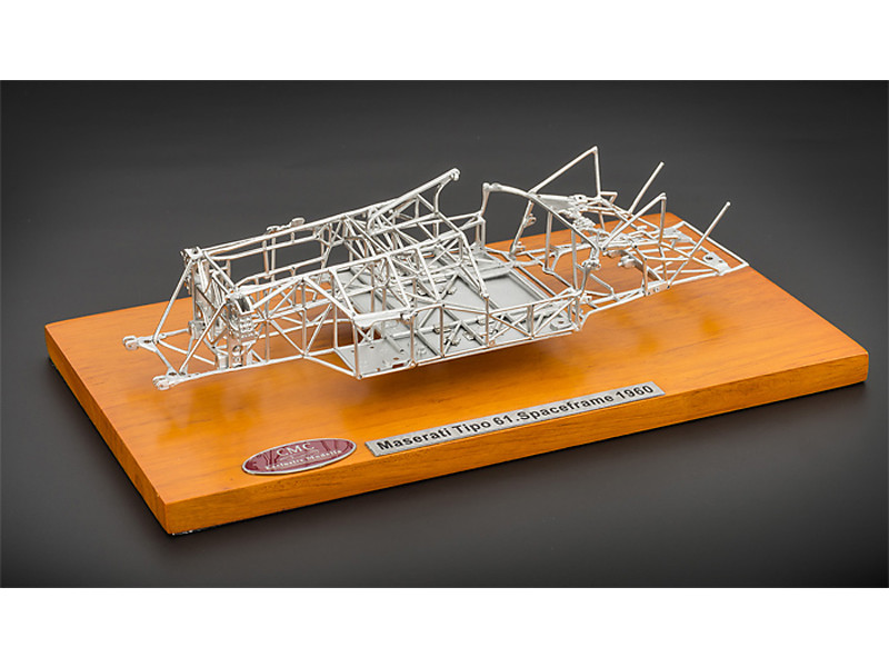 1960 Maserati Tipo 61 Birdcage Spaceframe 1/18 Diecast Model by CMC