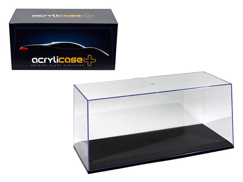 Collectible Display Show Case for 1/18 1/24 Models with Black Base by Illumibox