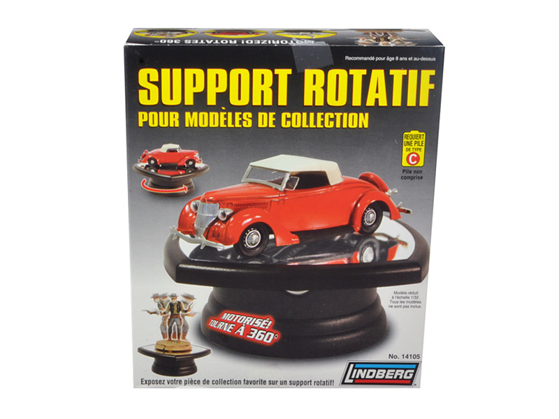 Rotary Display Stand for 1/32 1/64 & 1/43 Scale Models by Lindberg