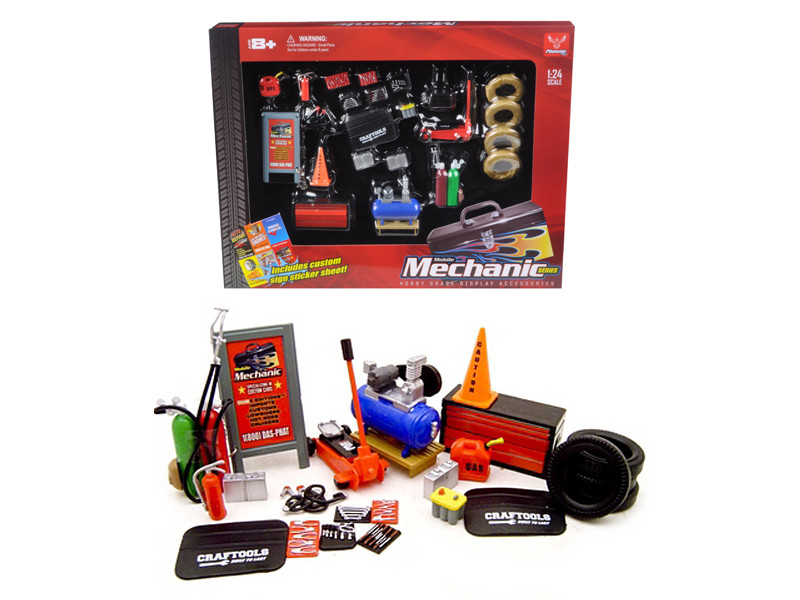 Mechanic Accessory Set For 1/24 Scale Cars 23 Pieces Phoenix Toys 18415