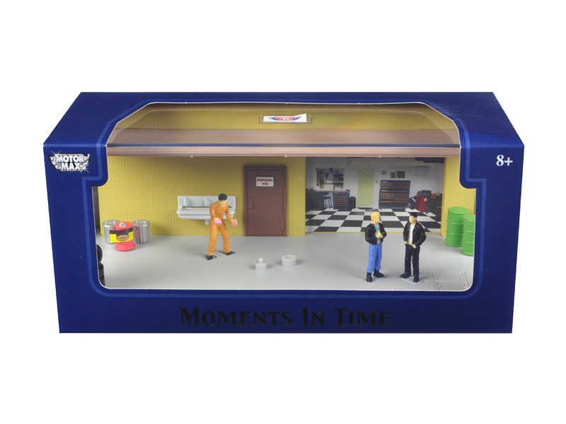 "Diorama ""Garage Scene"" Place Your Own Car Inside 1/43 Motormax 73861 N"
