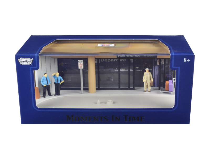 "Diorama ""Airport Scene"" Place Your Own Car Inside 1/43 Motormax 73864 N"