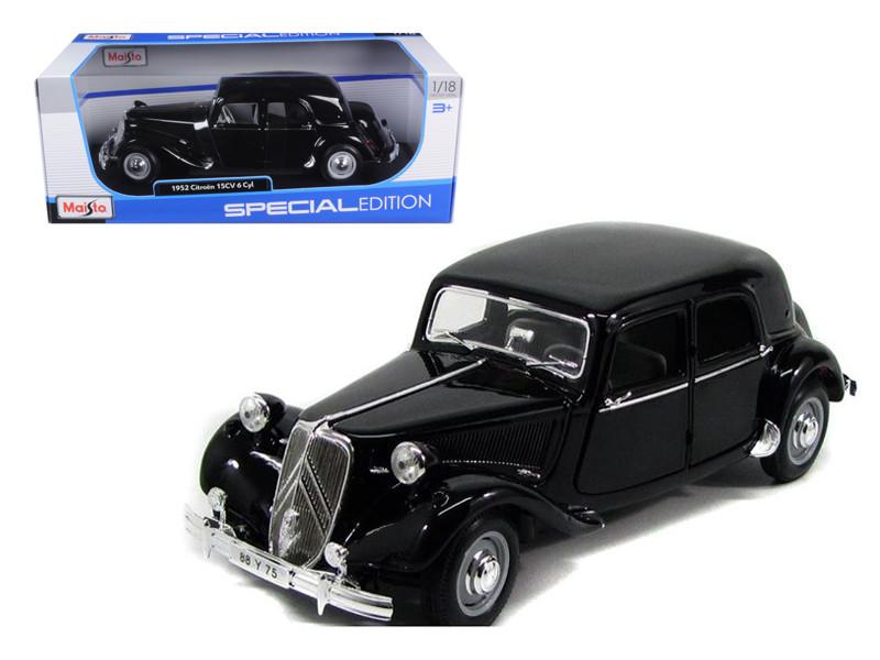 1952 Citroen 15CV 6CYL Black 1/18 Diecast Model Car Maisto 31821