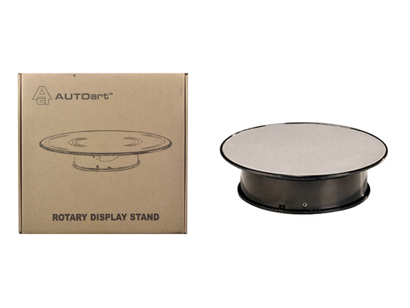 Rotary Display Turn Table 8 Inches with Silver Top 1/43 1/64 1/32 1/24 Autoart 98018