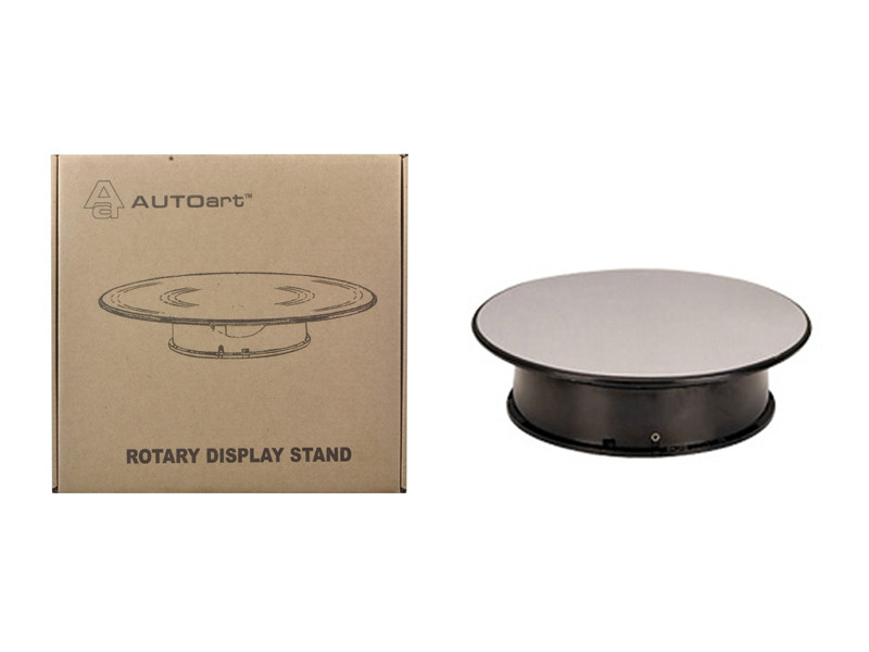 Rotary Display Stand For 1/24 1/43 Scale Cars With Mirror Top Autoart 98019