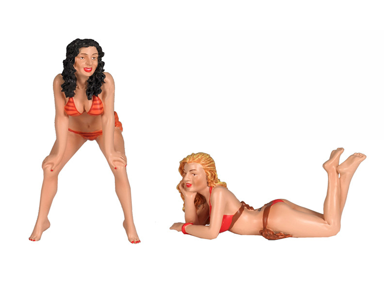Fast Women Spokemodels 2 Piece Figure Set For 1/18 Scale Models Motorhead Miniatures 325