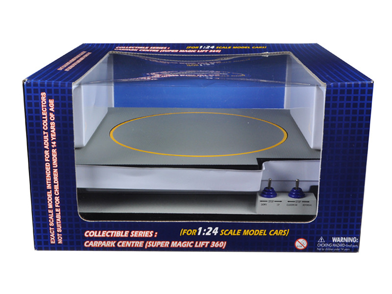 Battery Operated Car Lift For 1/24 Scale Cars Goes Up And Down Rotates Fits 3 Cars