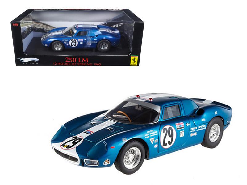 Ferrari 250 LM 12 Hours of Sebring 1965 #29 Elite Edition 1/18 Diecast Car Model Hotwheels T6262