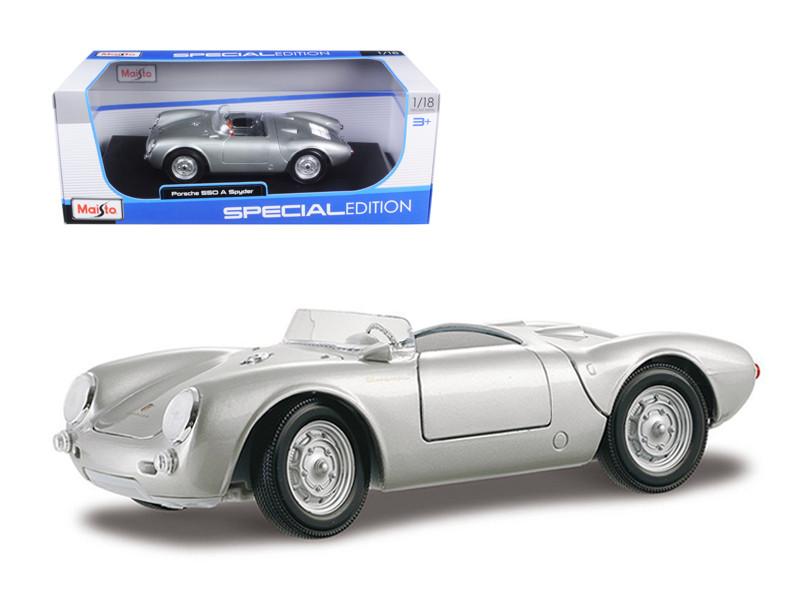 Porsche 550A Spyder Silver 1/18 Diecast Model Car Maisto 31843