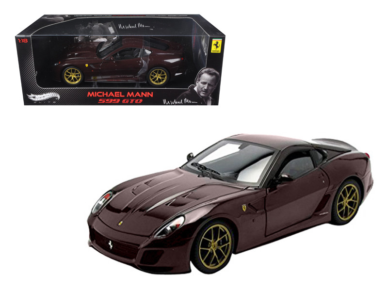 Michael Mann Ferrari 599 GTO Burgundy Elite Edition 1/18 Diecast Model Car by Hotwheels