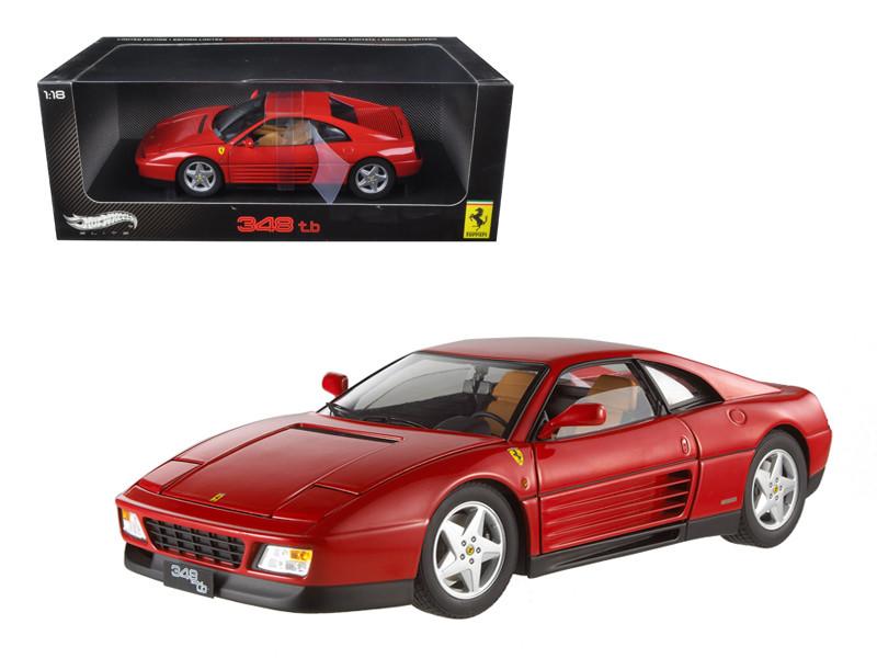 1989 Ferrari 348 TB Red Elite Edition 1/18 Diecast Car Model Hotwheels V7436