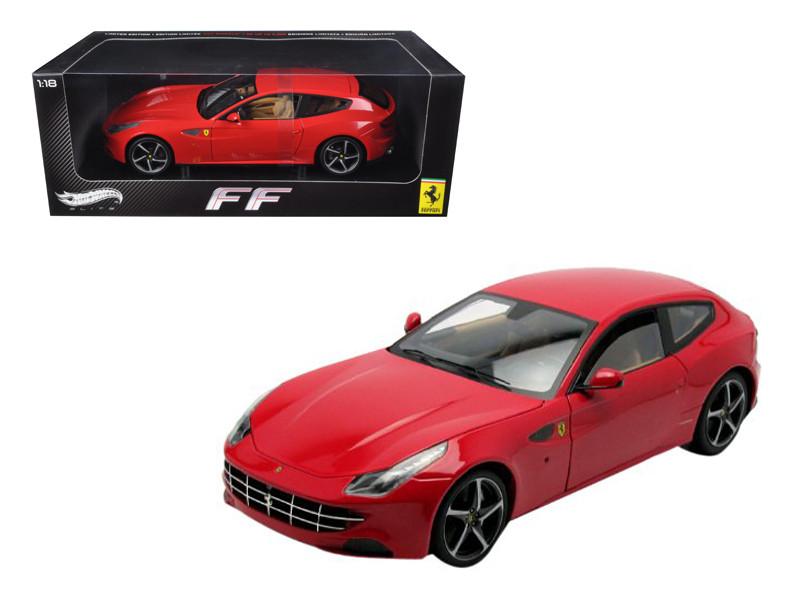 Ferrari FF GT V12 4 Seater Red Elite Edition 1/18 Diecast Car Model Hotwheels W1105