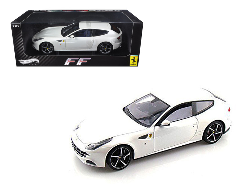 Ferrari FF V12 4 Seater Pearl White Elite Edition 1/18 Diecast Car Model Hotwheels W1119