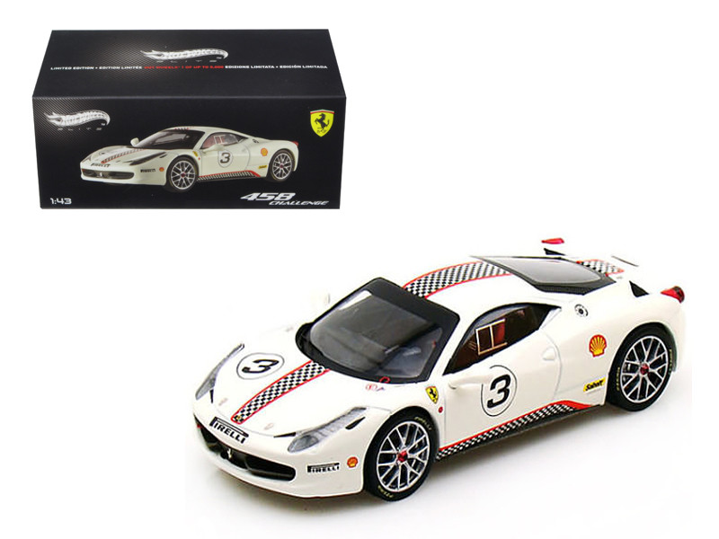 Ferrari 458 Italia Challenge #5 Elite Edition 1/43 Diecast Car Model Hotwheels X5505