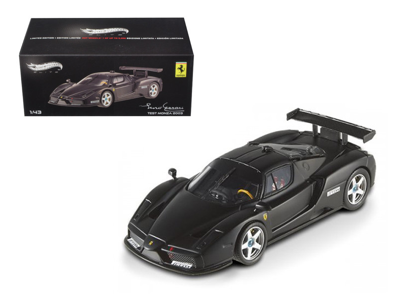 Ferrari Enzo 2003 Monza Test Car Matt Black Elite Edition 1/43 Diecast Car Model Hotwheels X5511