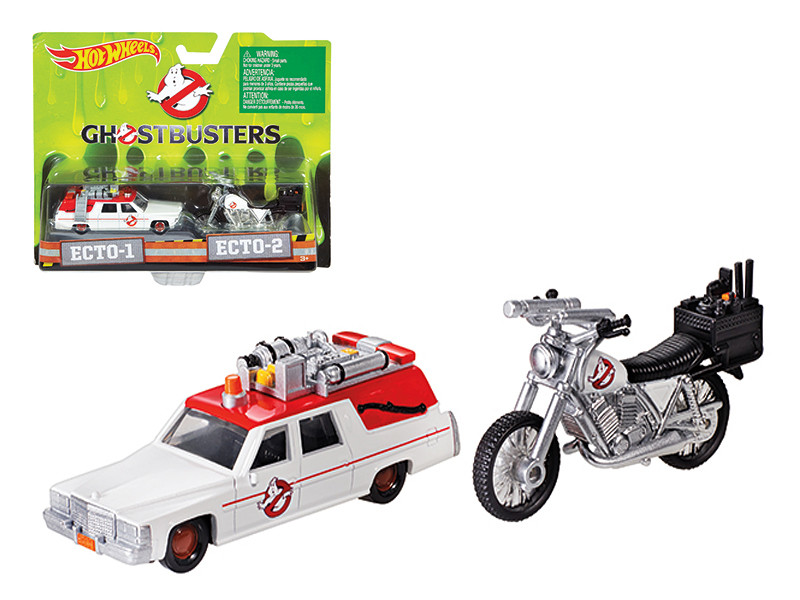 Ghostbusters 3 Movie Cadillac 1/64 & Bike 1/50 Scale Diecast Model by Hotwheels