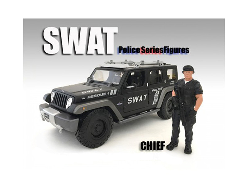 SWAT Team Chief Figure For 1:18 Scale Models American Diorama 77418