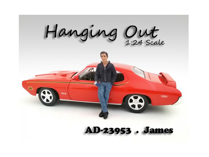 """Hanging Out"" James Figurine Figure For 1:24 Scale Models American Diorama 23953"