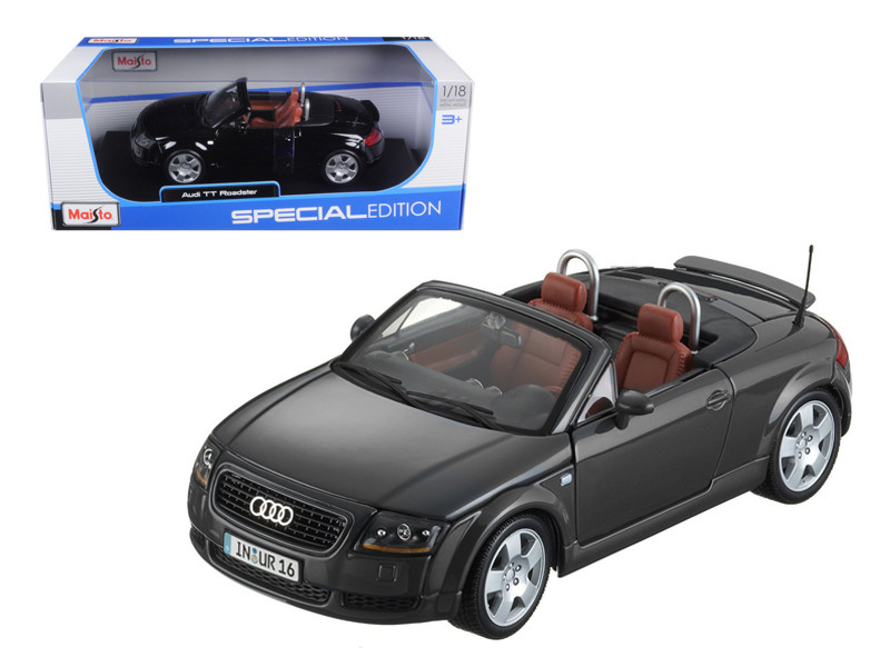 Audi TT Roadster Black 1/18 Diecast Model Car Maisto 31878