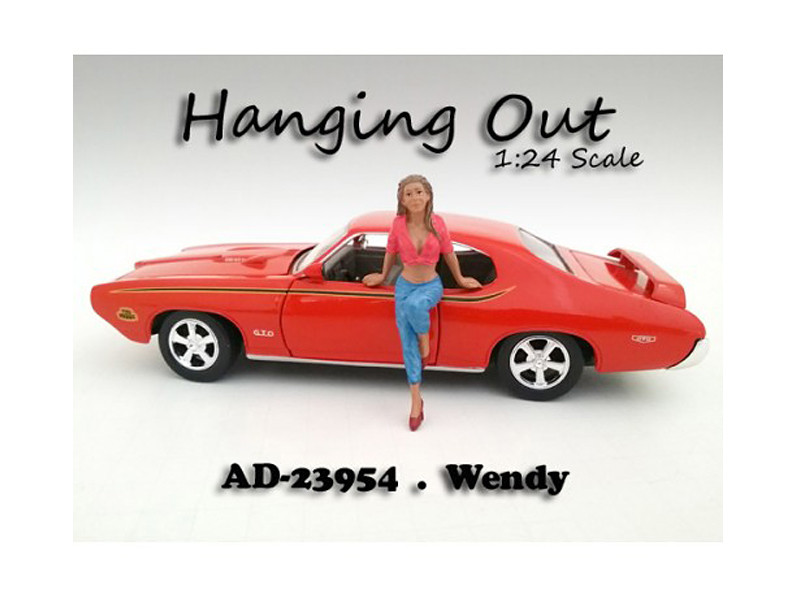 """Hanging Out"" Wendy Figurine Figure For 1:24 Scale Models American Diorama 23954"