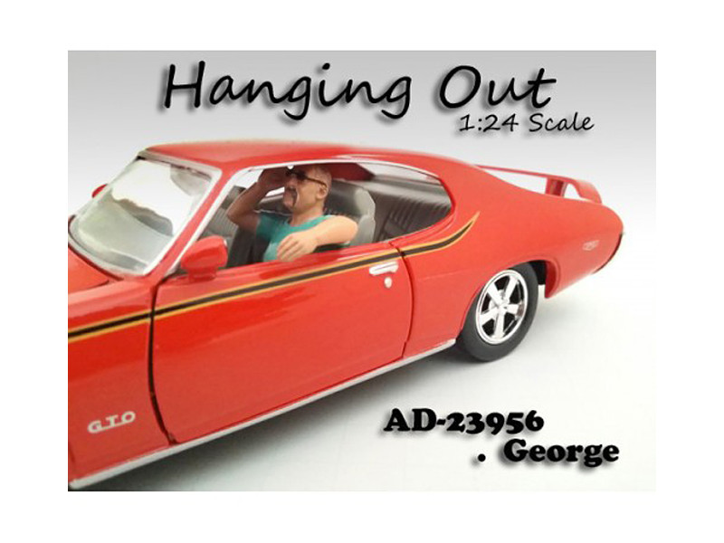 """Hanging Out"" George Figure For 1:24 Scale Models American Diorama 23956"