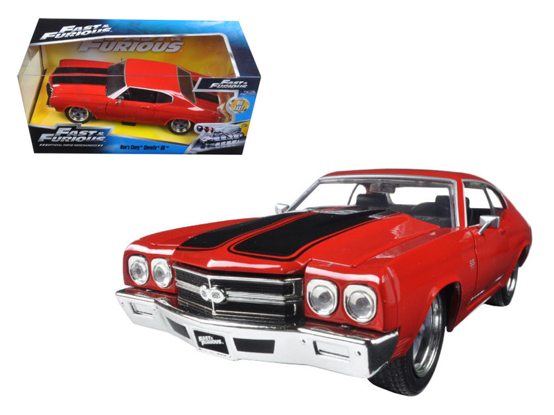 "Dom's Chevrolet Chevelle SS Red ""Fast & Furious"" Movie 1/24 Diecast Model Car Jada 97193"