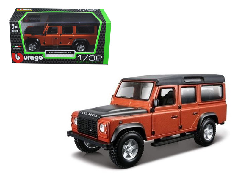 Land Rover Defender 110 4 Doors Orange 1/32 Diecast Model Car Bburago 43029