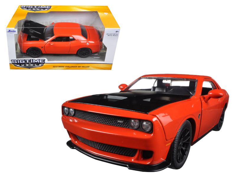 2015 Dodge Challenger SRT Hellcat Orange 1/24 Diecast Model Car Jada 97853
