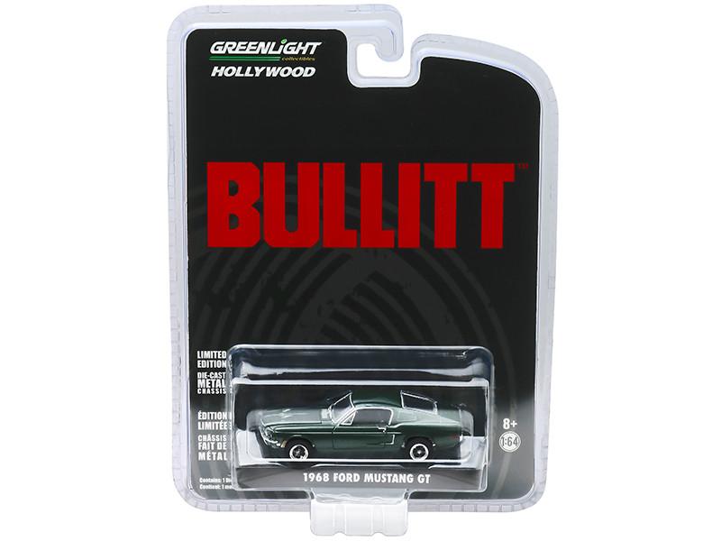 1968 Ford Mustang GT Fastback Green Bullitt 1968 Movie 1/64 Diecast Model Car Greenlight 44721