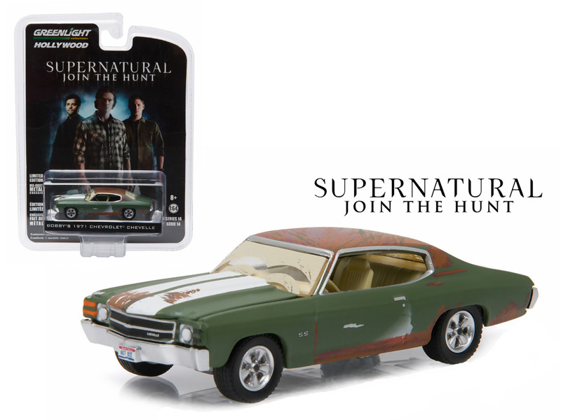 "Bobby's 1971 Chevrolet Chevelle SS Supernatural ""2005 Current TV Series"" 1/64 Diecast Model Car Greenlight 44740 A"
