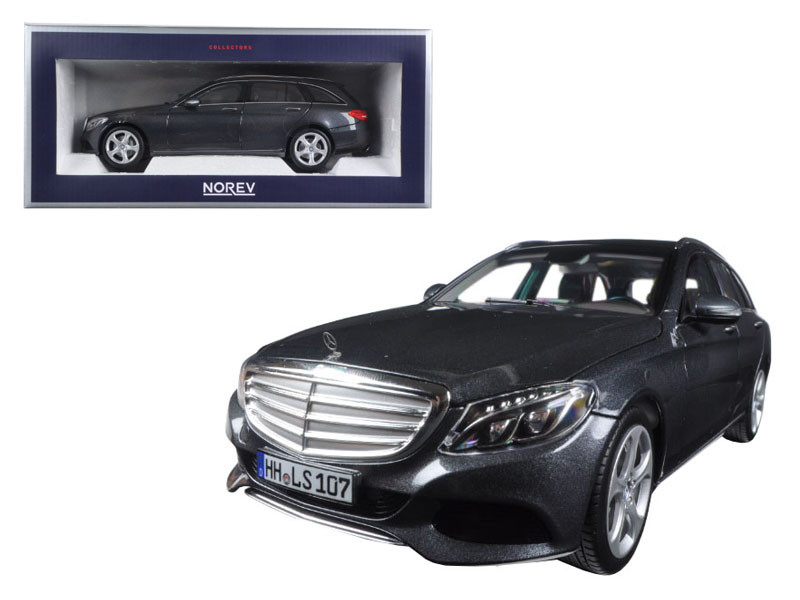 2014 Mercedes C Class T-Wagon Grey Metallic 1/18 Diecast Model Car Norev 183475