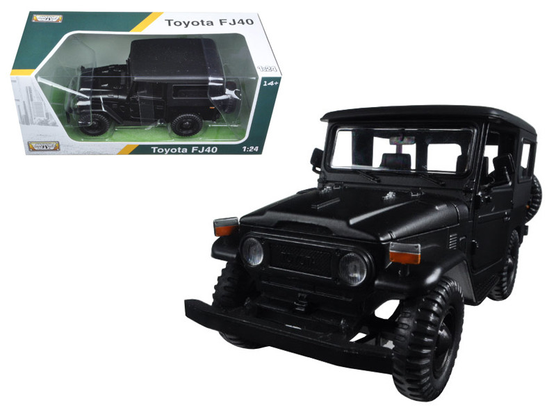 Toyota FJ40 Matt Black 1/24 Diecast Model Car Motormax 79323