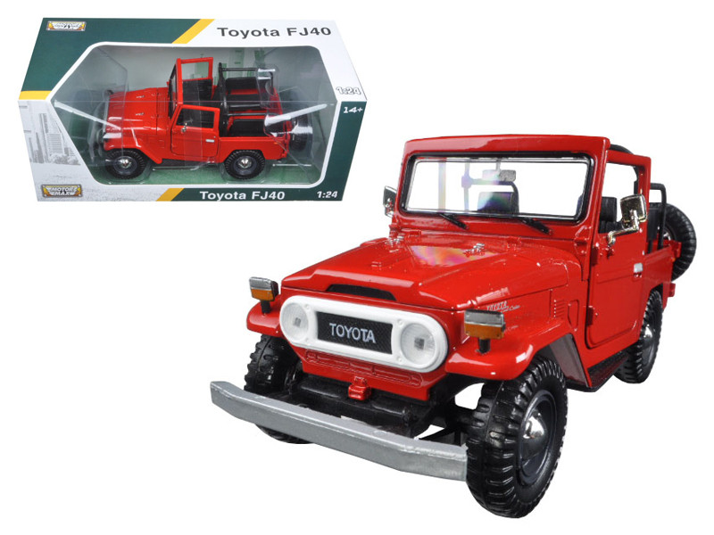 Toyota FJ40 Convertible Red 1/24 Diecast Model Car Motormax 79330