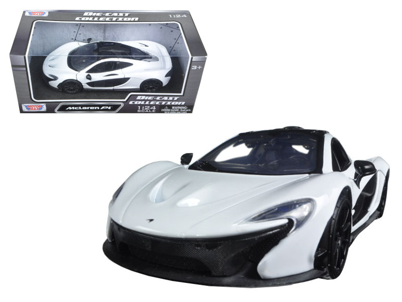 McLaren P1 White 1/24 Diecast Model Car Motormax 79325