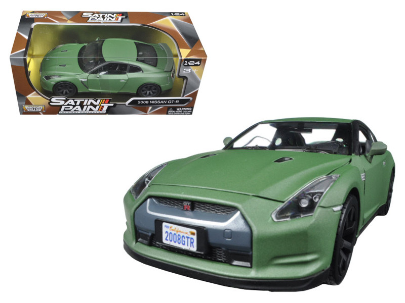 2008 Nissan GT-R R35 Matt Green 1/24 Diecast Model Car Motormax 79506