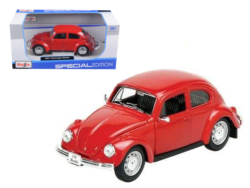 1973 Volkswagen Beetle Red 1/24 Diecast Model Car Maisto 31926