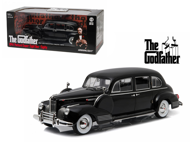 "1941 Packard Super Eight One-Eighty ""The Godfather"" 1972 1/18 Diecast Model Car Greenlight 12948"