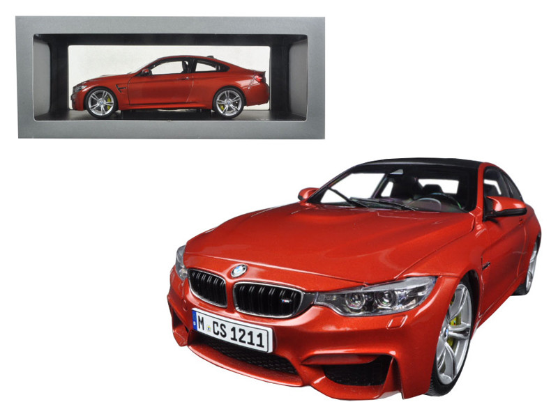 BMW M4 Coupe Orange 1/18 Diecast Model Car Paragon 97101