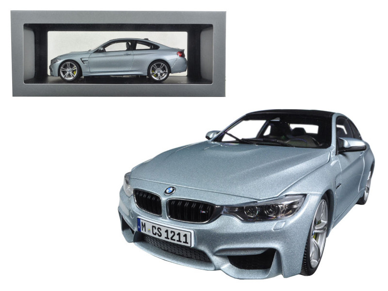 BMW M4 Coupe Silver 1/18 Diecast Model Car Paragon 97102