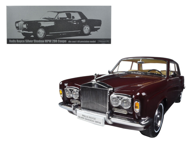 1968 Rolls Royce Silver Shadow Burgundy 1/18 Diecast Model Car Paragon 98204