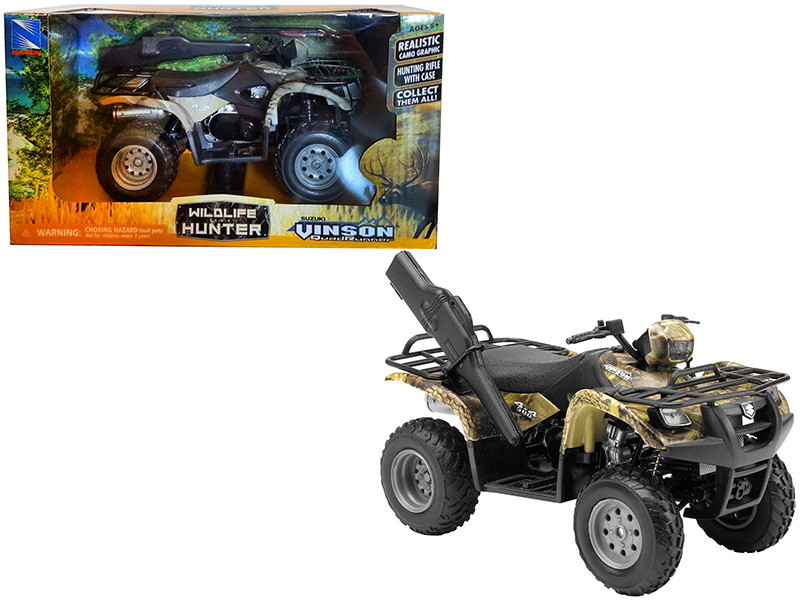 Suzuki Vinson 4x4 500 Quad Runner Green ATV Motorcycle 1/12 Diecast Model New Ray 42903 A