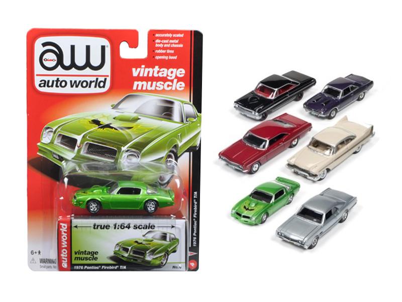 Autoworld Muscle Cars Release 5B Premium Licensed Set Of 6 Cars 1/64 Diecast Model Cars Autoworld 64042 B