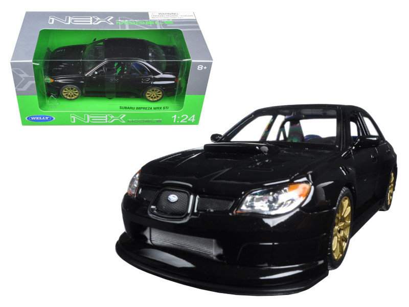 Subaru Impreza WRX STI Black 1/24 Diecast Model Car Welly 22487