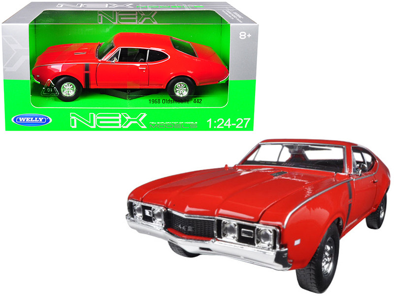 1968 Oldsmobile 442 Red 1/24 1/27 Diecast Model Car Welly 24024