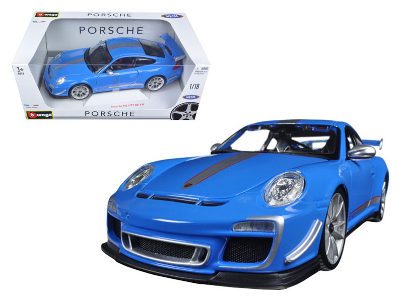Porsche 911 GT3 RS 4.0 Blue 1/18 Diecast Car Model Bburago 11036