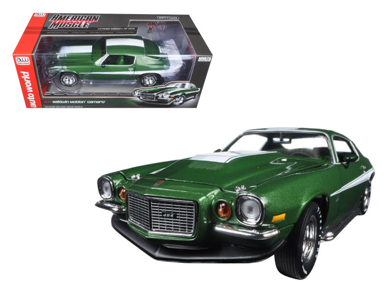 1970 1/2 Phase III 454 Chevrolet Camaro Bladwin Motion Limited Edition to 1002pc 1/18 Diecast Model Car Autoworld AMM1079